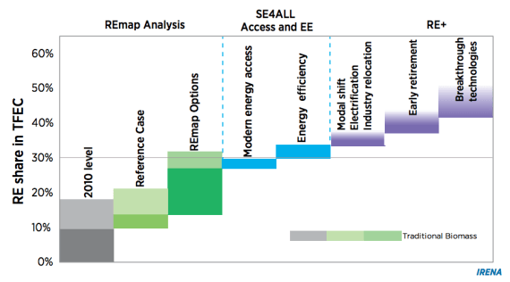 REmap 2030: Roadmap to Double Renewable Energy Share by 2030