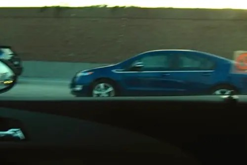 Chevy Volt on LA freeway
