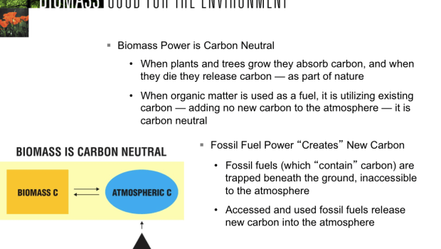 Carbon-neutral argument for biomass (