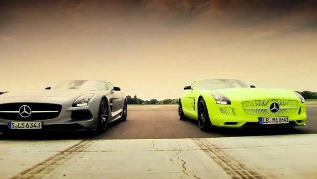 Top Gear Loves Mercedes SLS AMG Electric Drive (VIDEO)