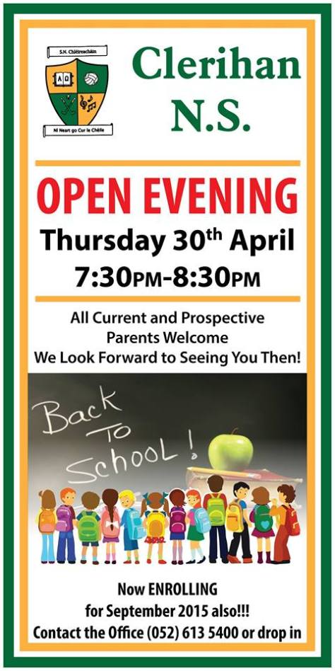 Clerihan School Open Night