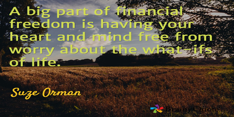 "Suze Orman ""Financial Freedom"" #Quote #avoiddebt"