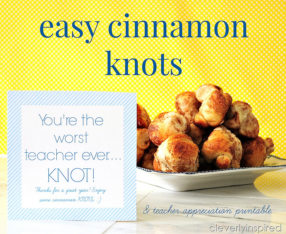 Easy Cinnamon Knots with Free Printable -- Tatertots and Jello