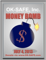 OKSAFE Moneybomb with link on graphic