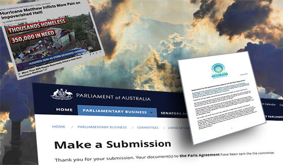 Submission for the parliamentary inquiry into the Paris Agreement