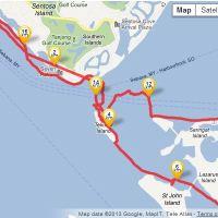 Inflatable sea kayaking micro-adventure: Sentosa to St Johns Island
