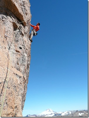 Steve House sport climbing in Bariloche Argentina