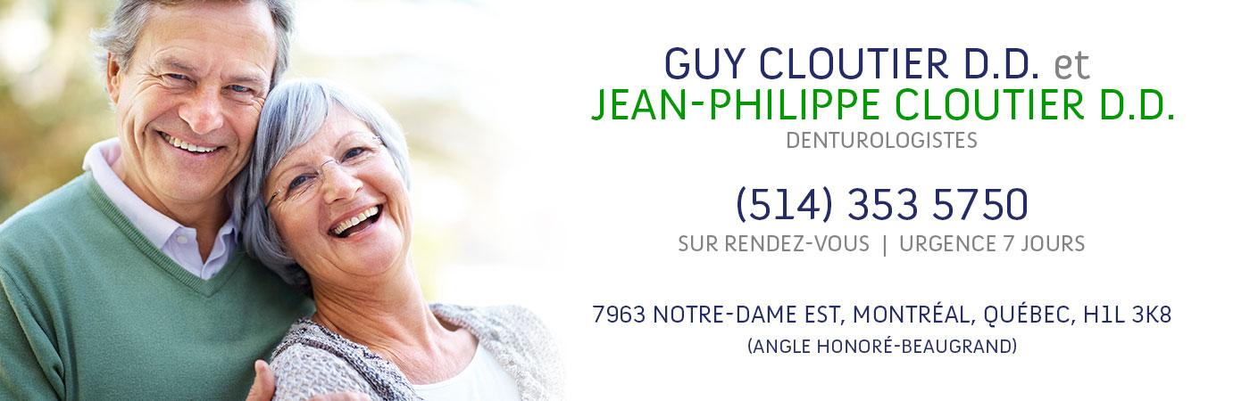 Guy Cloutier d.d. et Jean-Philippe Cloutier d.d, denturologistes | (514 ) 353 5750