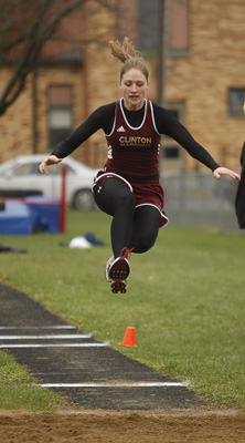Herald & Review/Lisa Morrison Clinton Megan Mitchell in triple jump