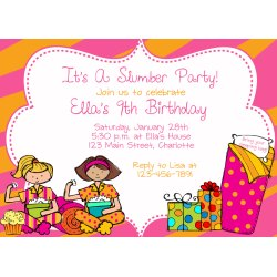 Small Crop Of Slumber Party Invitations