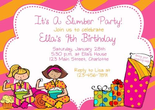 Medium Of Slumber Party Invitations