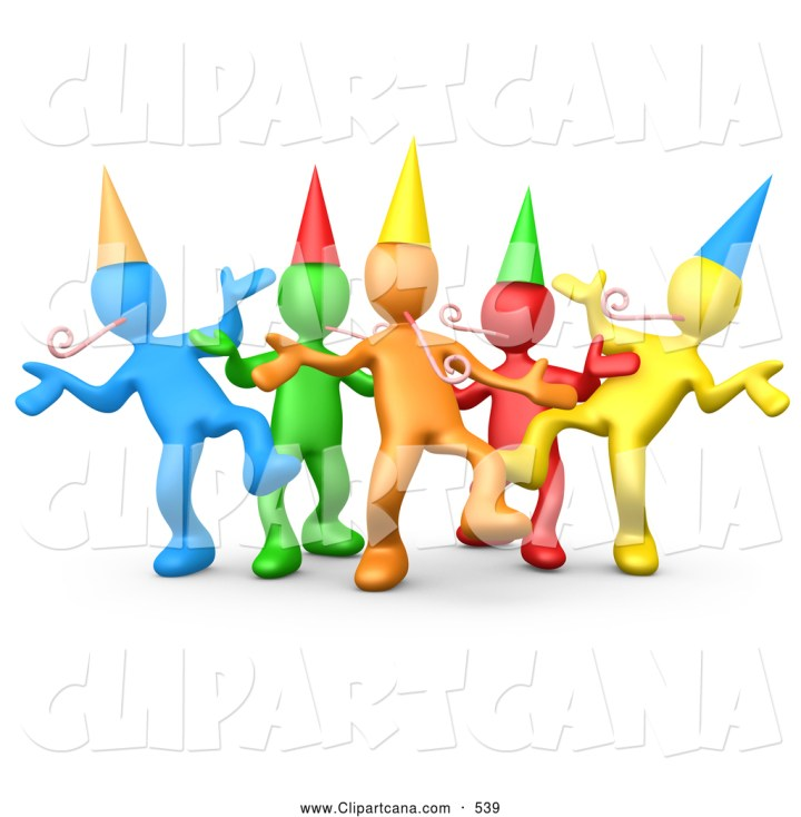 Group Dancing Clip Art Vector Clip Art of a Group of