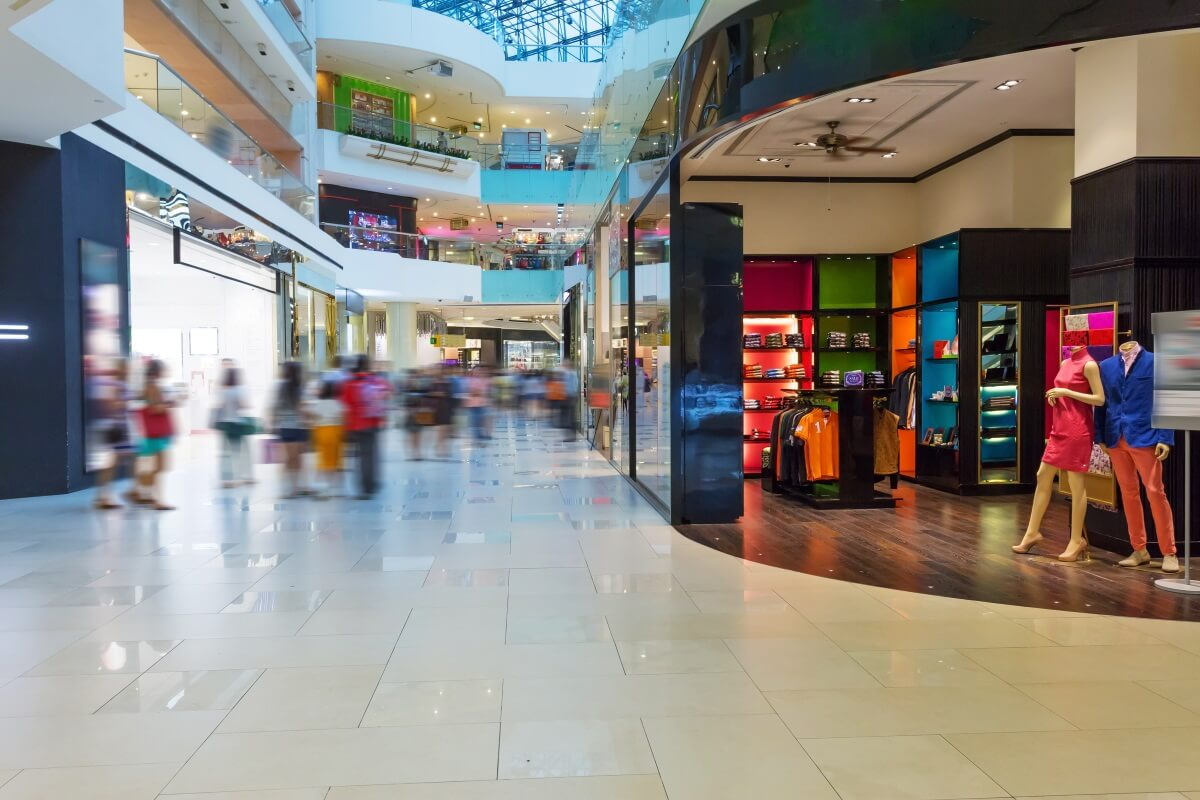 retail stores in the shopping mall
