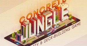 Concrete Jungle is a Kickstarter strategy simulation city building game with collectible card deck building aspects.