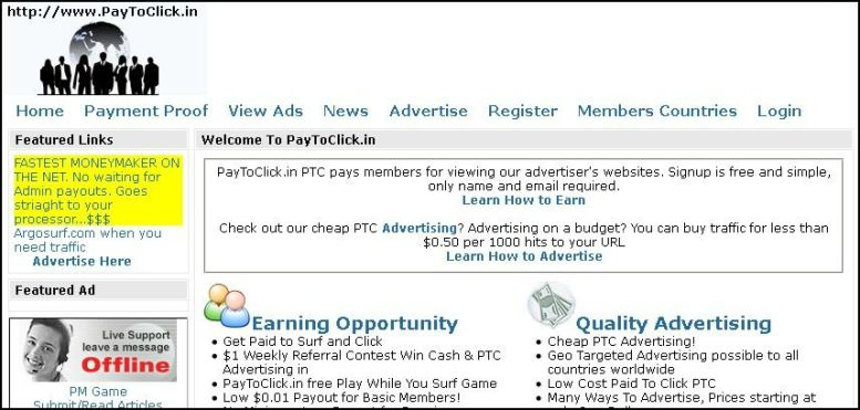 recognize scam ptc sites