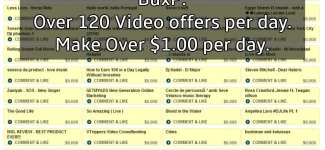 video offers buxp