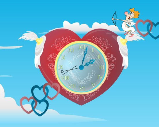 Free Download Cupid Clock Live Wallpaper Cupid Clock Screensaver . 1280 x 1024.Free Valentine Heart Images Cupid