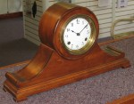 Waterbury Tambour Mantel Clock with Enamel Dial