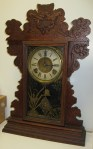 E. N. Welch Oak Kitchen Clock