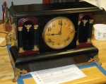 Gilbert Black Mantel Clock Made in 1916