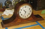 A Late Ingraham Tambour Mantel Clock, Made in 1940