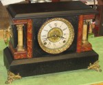 Ingraham Black Mantel Clock Made In 1906
