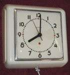 "Westclox ""Dunbar"" Electric Wall Clock, Made in April 1941"