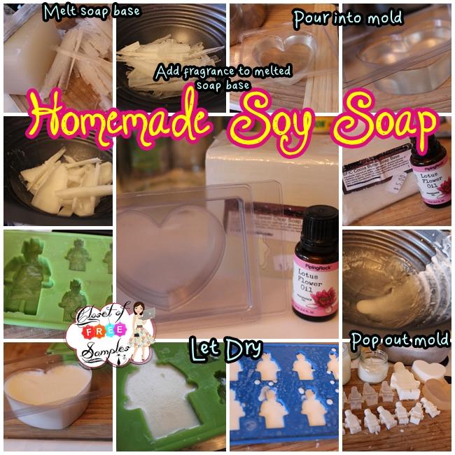 DIY Homemade Soy Soap #PipingRock #Review