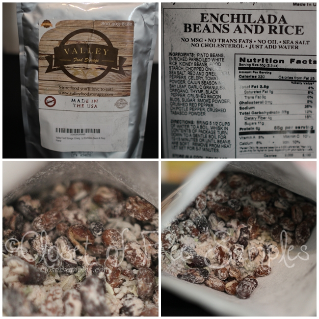 Valley Food Storage: Enchilada Beans & Rice #Review