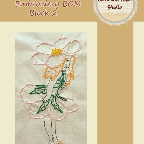 Floral Fairies Embroidery BOM Block 2