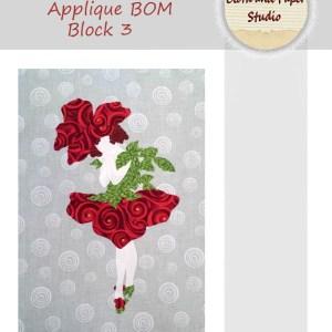 Floral Fairies Applique BOM Block 3