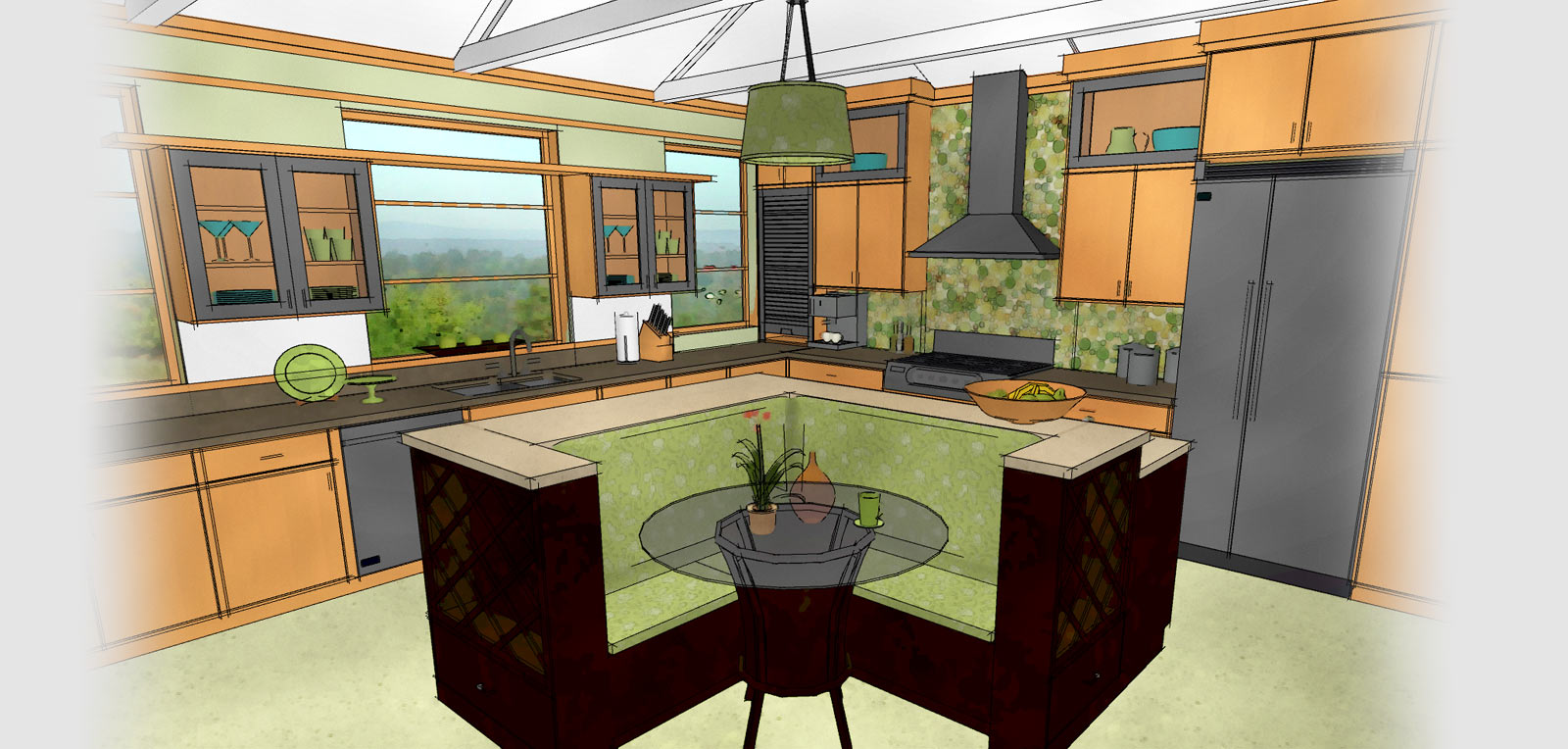 kitchen bath kitchen remodel app Technical drawing of a kitchen generated by Home Designer