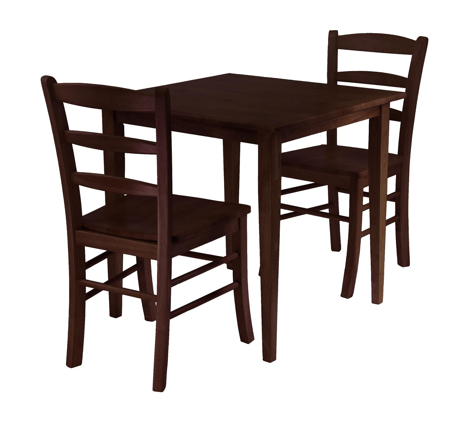 groveland chairs square kitchen table Groveland 3pc Square Dining Table with 2 Chairs