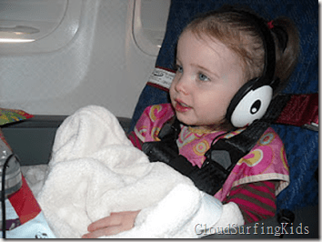 toddler on plane