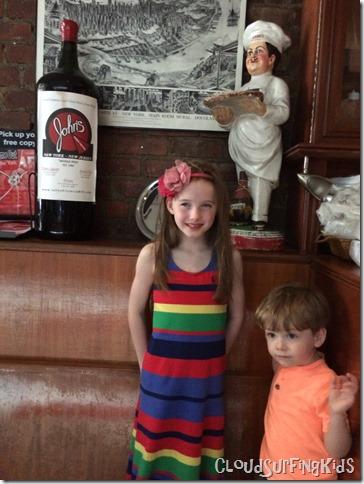 Kids at John's Pizzeria