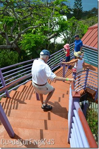 Charlotte Amalie Skyride Steep Steps