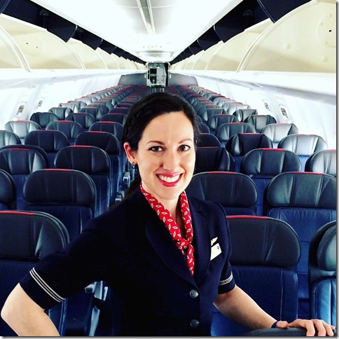 As a flight attendant I'm always smiling...even if through tears.