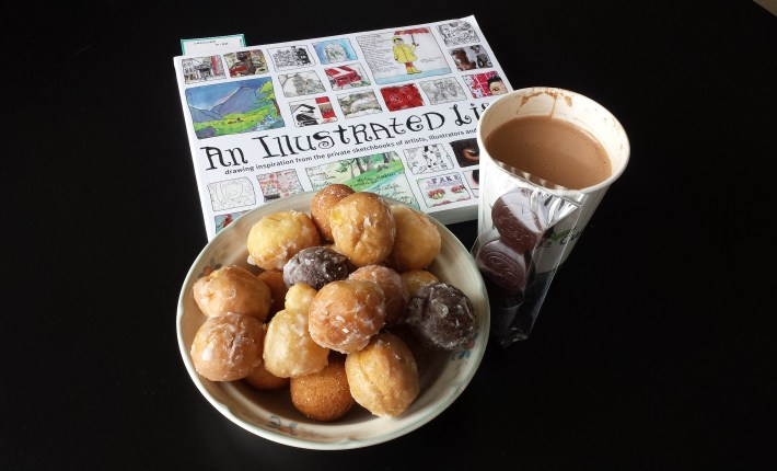 Epiphanie products, Timbits, and a good book.