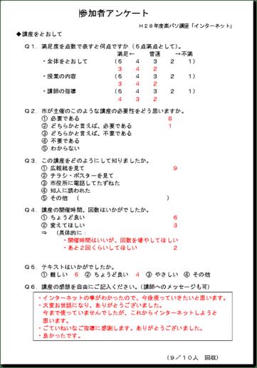 楽パソアンケート(インターネット)集計