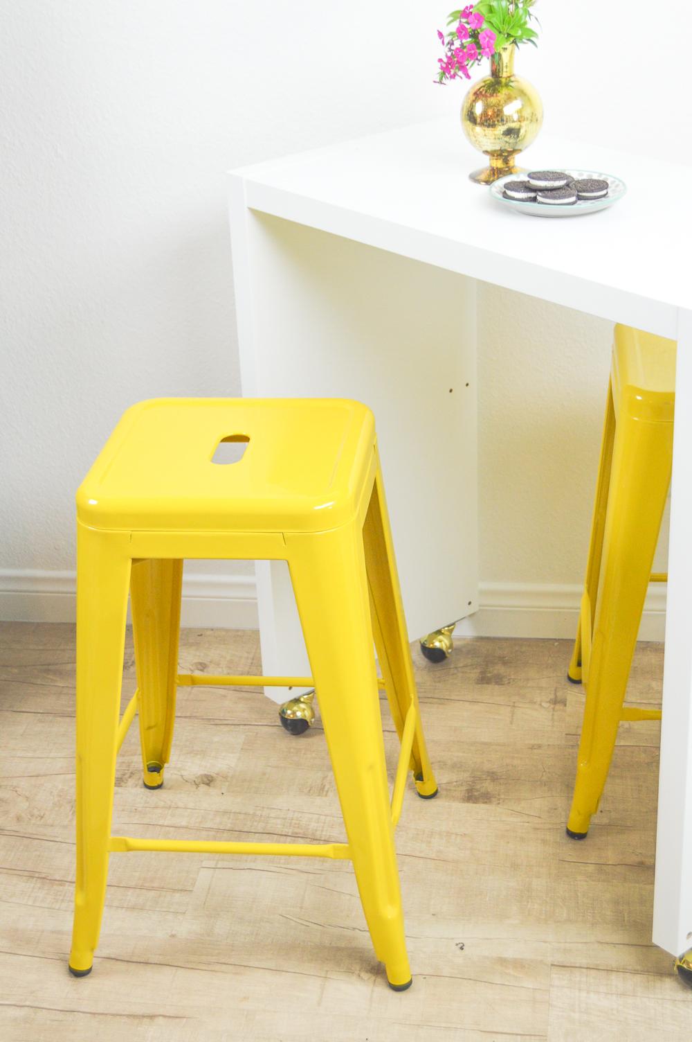 diy rolling kitchen island or bar ikea hack rolling kitchen chairs IKEA Hack Rolling Kitchen Island or Bar www clubcrafted com