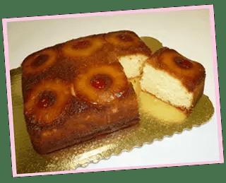 torta volteada de piña