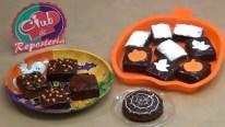 Tutorial como decorar brownies para halloween