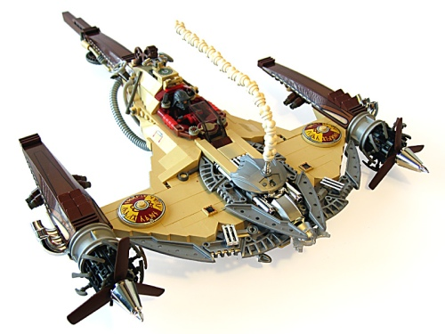 IMAGE: Mark Stafford's LEGO Steampunk Naboo Fighter