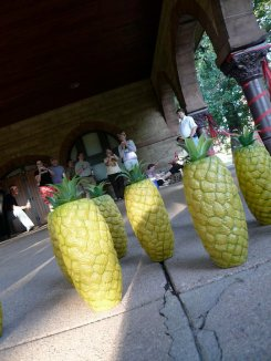 Pineapple bowling!