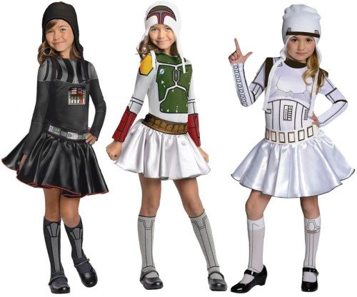 Girls costumes. Not 'sexy,' just skirts.