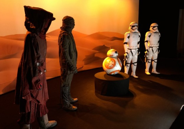 The Force Awakens costumes, BB-8 on display at Celebration Anaheim.