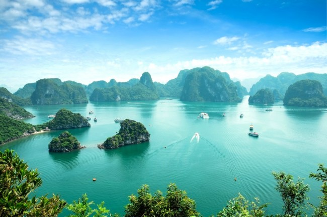 Cheap places to travel - Halong Bay in Vietnam