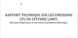 rapport technique émission CPL Linky