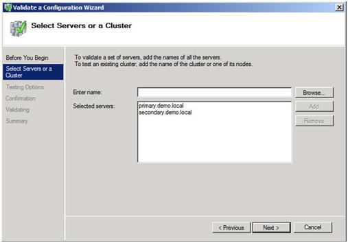Step-by-Step: Configuring a 2-node multi-site cluster on Windows Server 2008 R2 – Part 1 (6/6)