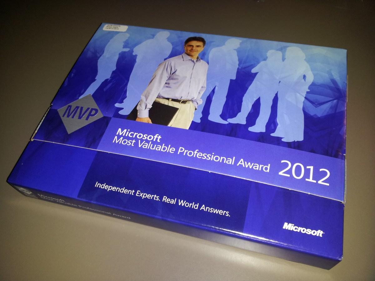 Microsoft MVP Award 2012
